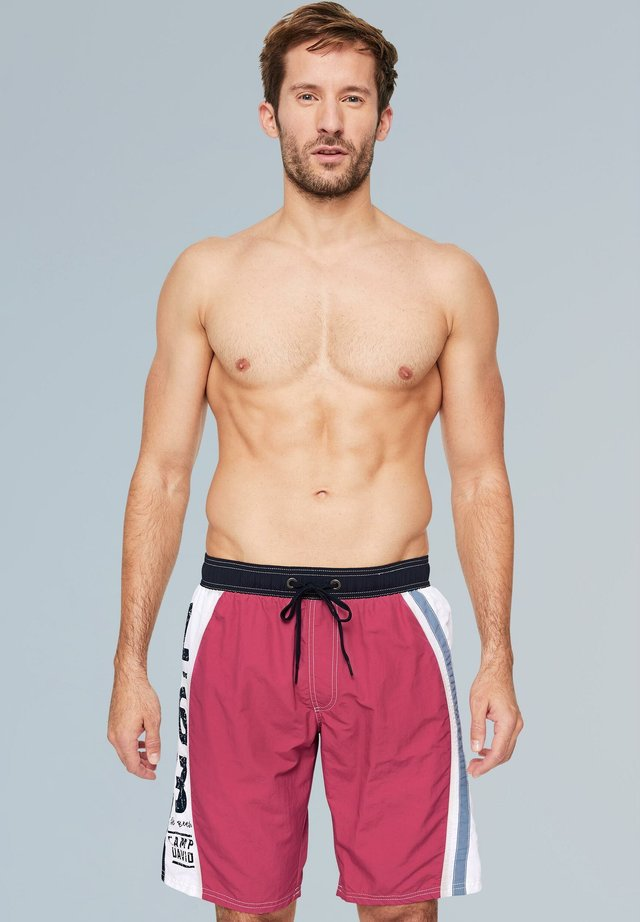 MIT COLOUR-DESIGN UND PRINT - Swimming shorts - red purple