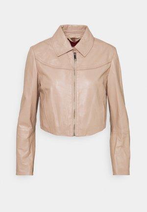 MICRON - Kožená bunda - powder pink