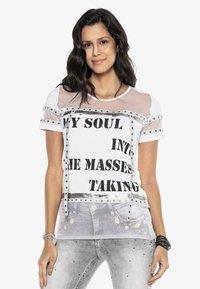 Cipo & Baxx - Print T-shirt - white - 0