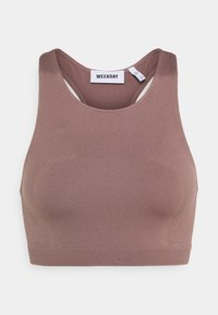 Weekday - CILLI SEAMLESS  - Débardeur - brown plum - 5