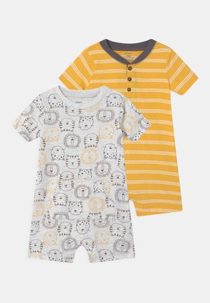 LION 2 PACK - Combinaison - grey/yellow