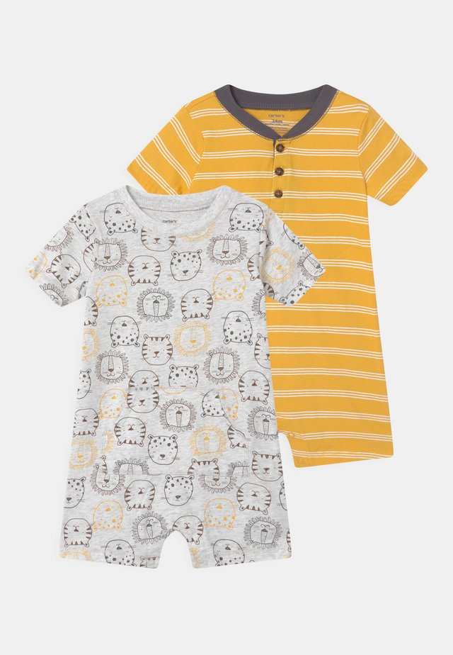 LION 2 PACK - Jumpsuit - grey/yellow