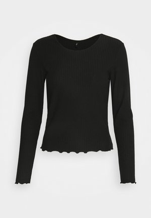 ONLNELLA O NECK - Long sleeved top - black