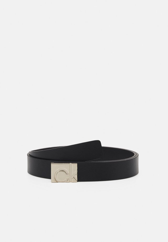 SQUARE PLAQUE BUCKLE BELT - Belt - black