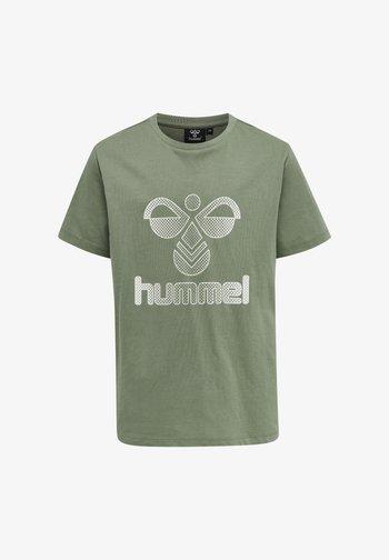 HMLPROUD - T-shirt print - sea spray