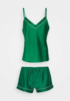 TOP WITH FRENCH KNICKERS - Pyjamas - dark green