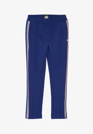 COLORFUL PANTS WITH SPORTY RIBS ON THE SIDE - Tracksuit bottoms - blue