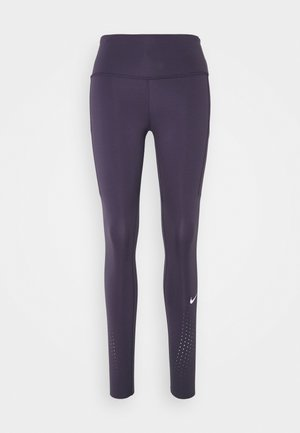 EPIC LUXE - Leggings - dark raisin/reflective silver