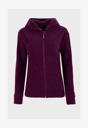 Sweater met rits - purple