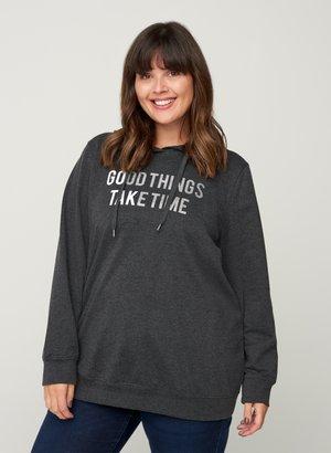 MIT KAPUZE - Sweatshirt - black