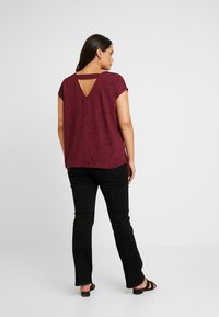 Even&Odd Curvy - Blouse - dark red/black - 2