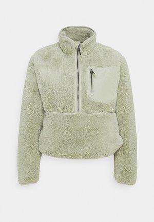 ONLDALINA ZIP TEDDY - Sweatshirt - desert sage