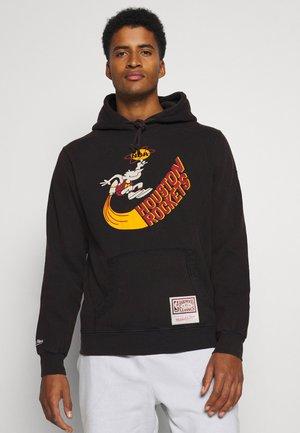 NBA HOUSTON ROCKETS WORN LOGO HOODY - Klubové oblečení - black