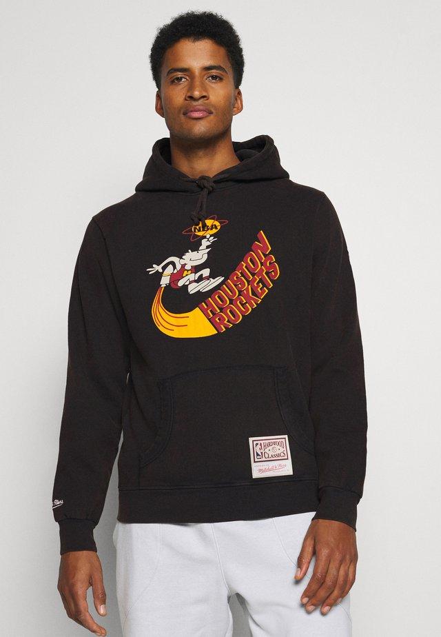 NBA HOUSTON ROCKETS WORN LOGO HOODY - Klubbklær - black