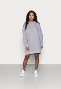 Missguided Petite - QUILTED DRESS - Day dress - grey - 1
