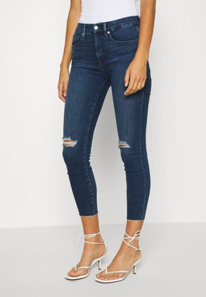 LEGS CROP RAW EDGE - Skinny džíny - blue