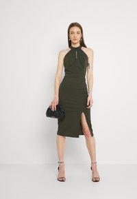 WAL G. - JAYNE LEE HALTER NECK DRESS - Cocktail dress / Party dress - khaki - 1