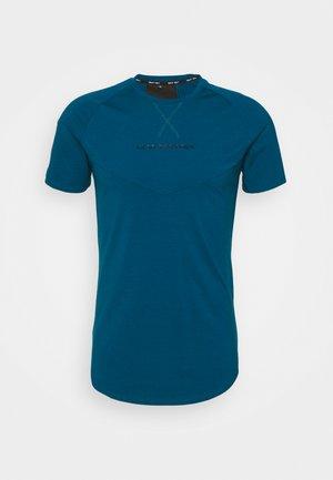 STATEMENT TEE - T-shirt imprimé - teal