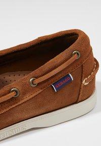 Sebago - DOCKSIDES PORTLAND - Boat shoes - brown cognac - 5