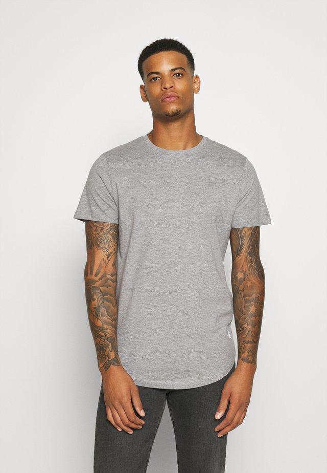 JJENOA - Basic T-shirt - light grey melange
