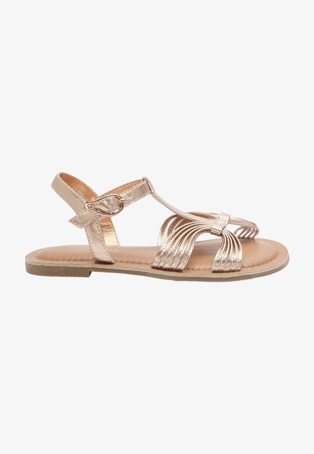 Sandály - rose gold-coloured