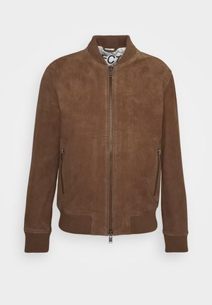 SLHICONIC - Leather jacket - rubber
