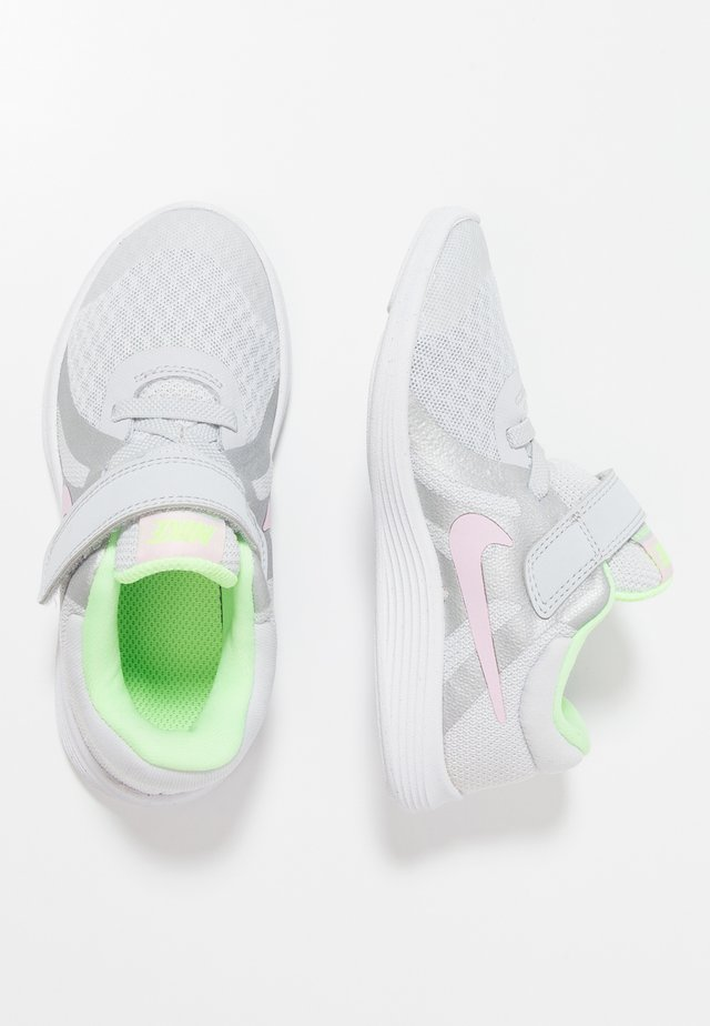 REVOLUTION 4 - Neutral running shoes - pure platinum/pink foam/platinum tint/lime blast