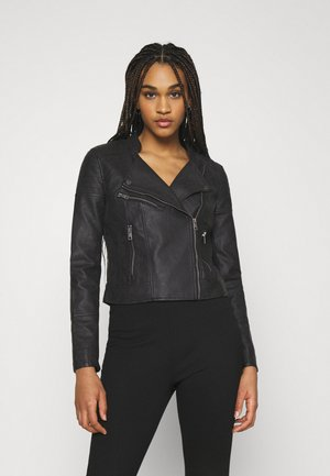 VMBEATE  - Faux leather jacket - black