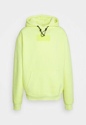 UNISEX SMALL SIGNATURE BOX HOODIE - Zip-up hoodie - yellow