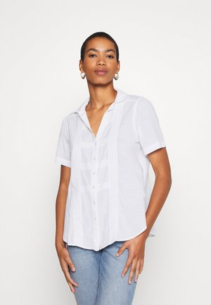 PRETTY TIE FRONT - Button-down blouse - white