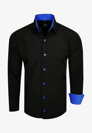 FREIZEIT-HEMD - Shirt - schwarz / sax