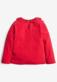 Next - BRUSHED BRODERIE COLLAR  - Long sleeved top - red - 1