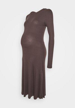 PCMBIRDIE DRESS - Jersey dress - mole