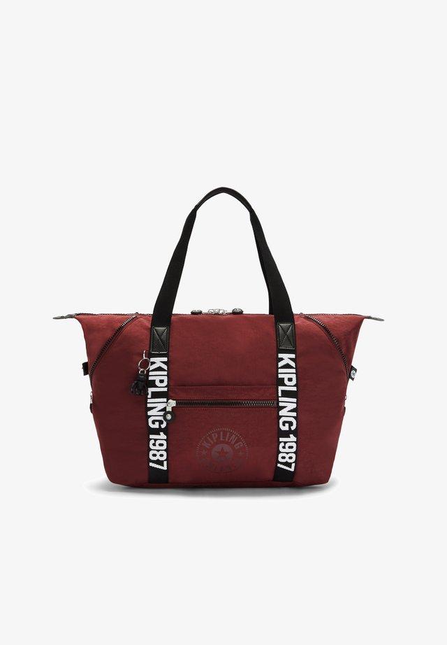 Shopping bag - maroon black