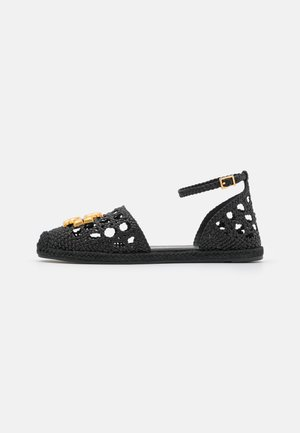 ELEANOR WOVEN D'ORSAY  - Espadrilky - perfect black