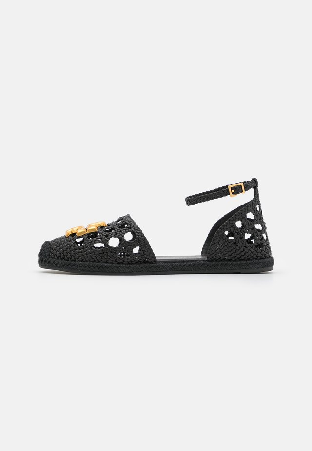 ELEANOR WOVEN D'ORSAY  - Espadryle - perfect black