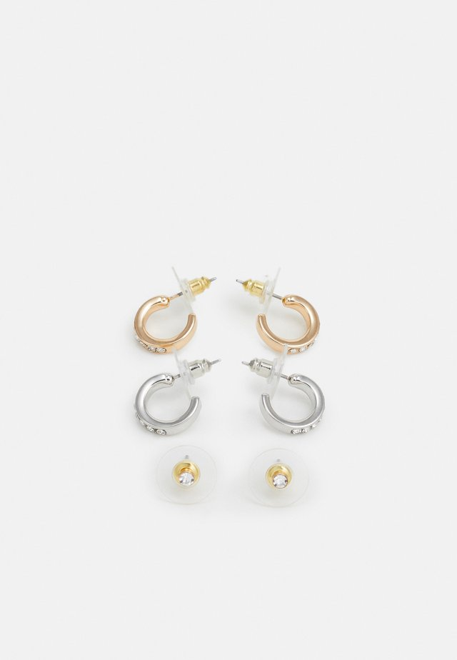 GALIRERITH 3 PACK - Earrings - metallic multi