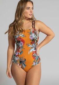 Ulla Popken - Swimsuit - mottled orange - 0