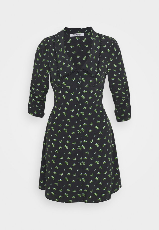 LOW FRONT COLLAR MINI DRESS - Korte jurk - rosebud