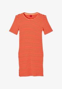 s.Oliver - JURK - Jumper dress - orange stripes - 0