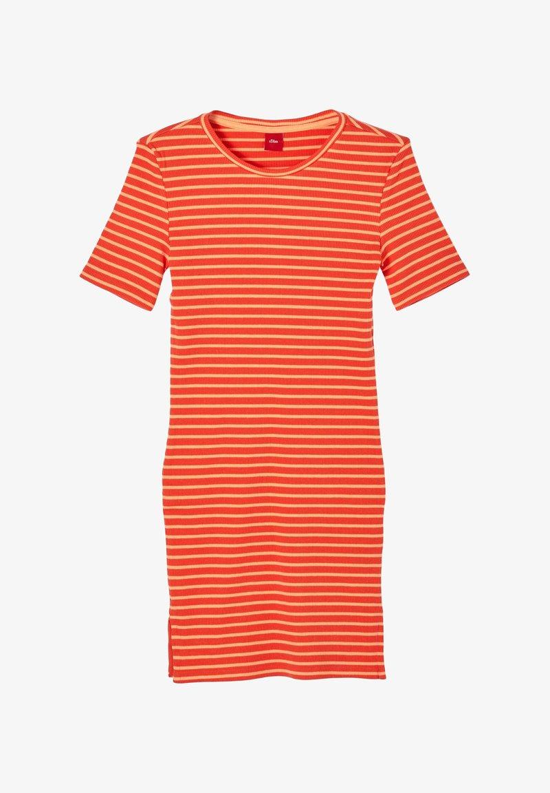 s.Oliver - JURK - Jumper dress - orange stripes
