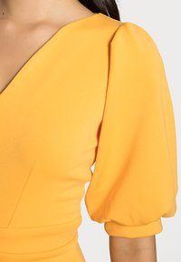Closet - CLOSET V NECK PENCIL DRESS - Day dress - mustard - 4