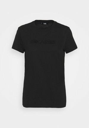 RHINESTONE LOGO  - Print T-shirt - black