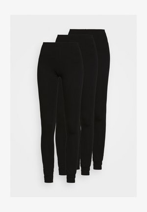 3 PACK - Leggings - Trousers - black