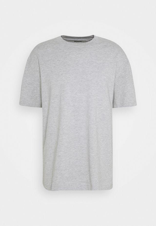 OVERSIZED - Jednoduché triko - grey melange