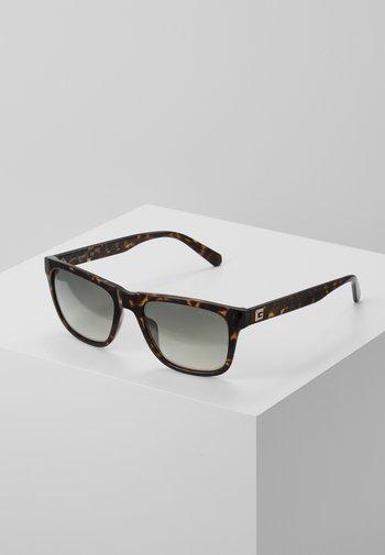 Sunglasses - dark havana/gradient green