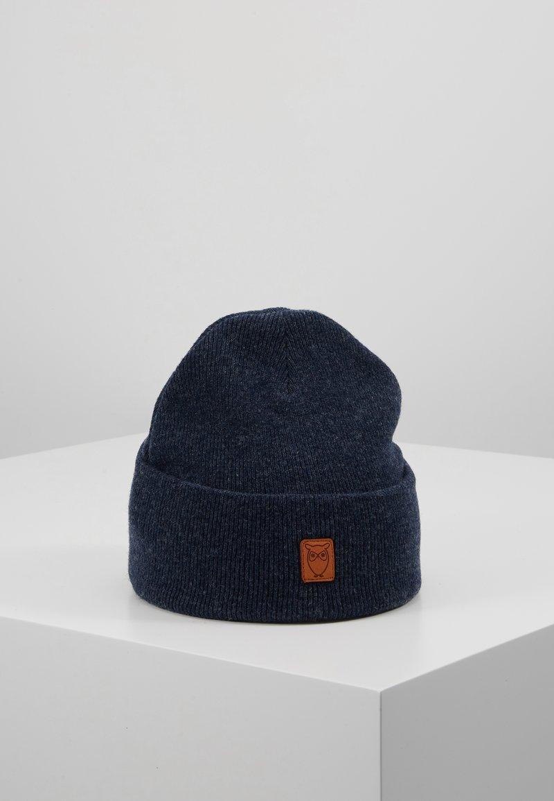 Knowledge Cotton Apparel - LEAF BEANIE UNISEX - Čepice - blue