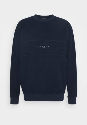 CUT AND SEWN BRUSHED FELPA CREWNECK - Sweatshirt - dark blue
