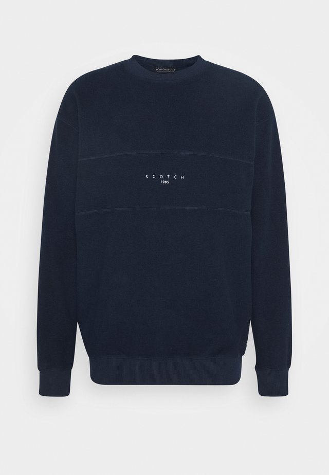 CUT AND SEWN BRUSHED FELPA CREWNECK - Sweater - dark blue