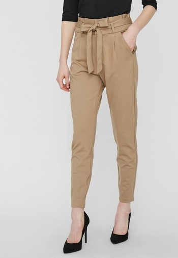 LOOSE PAPERBAG  - Trousers - silver mink
